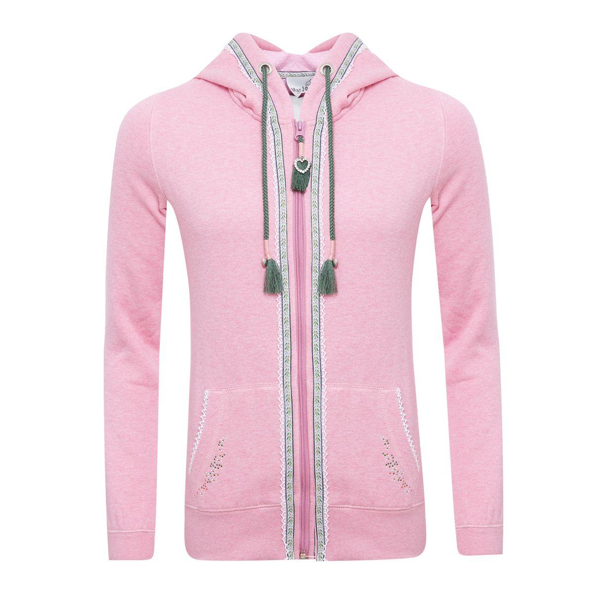 Trachtenhoodie Dakaria in Pink von Marjo Trachten