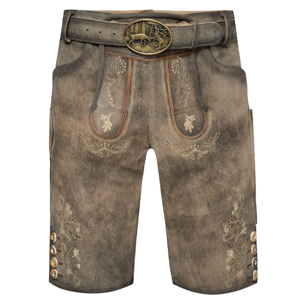 5880b2925bb4 Kurze Lederhose 7004 in Braun von Marjo Trachten   eBay