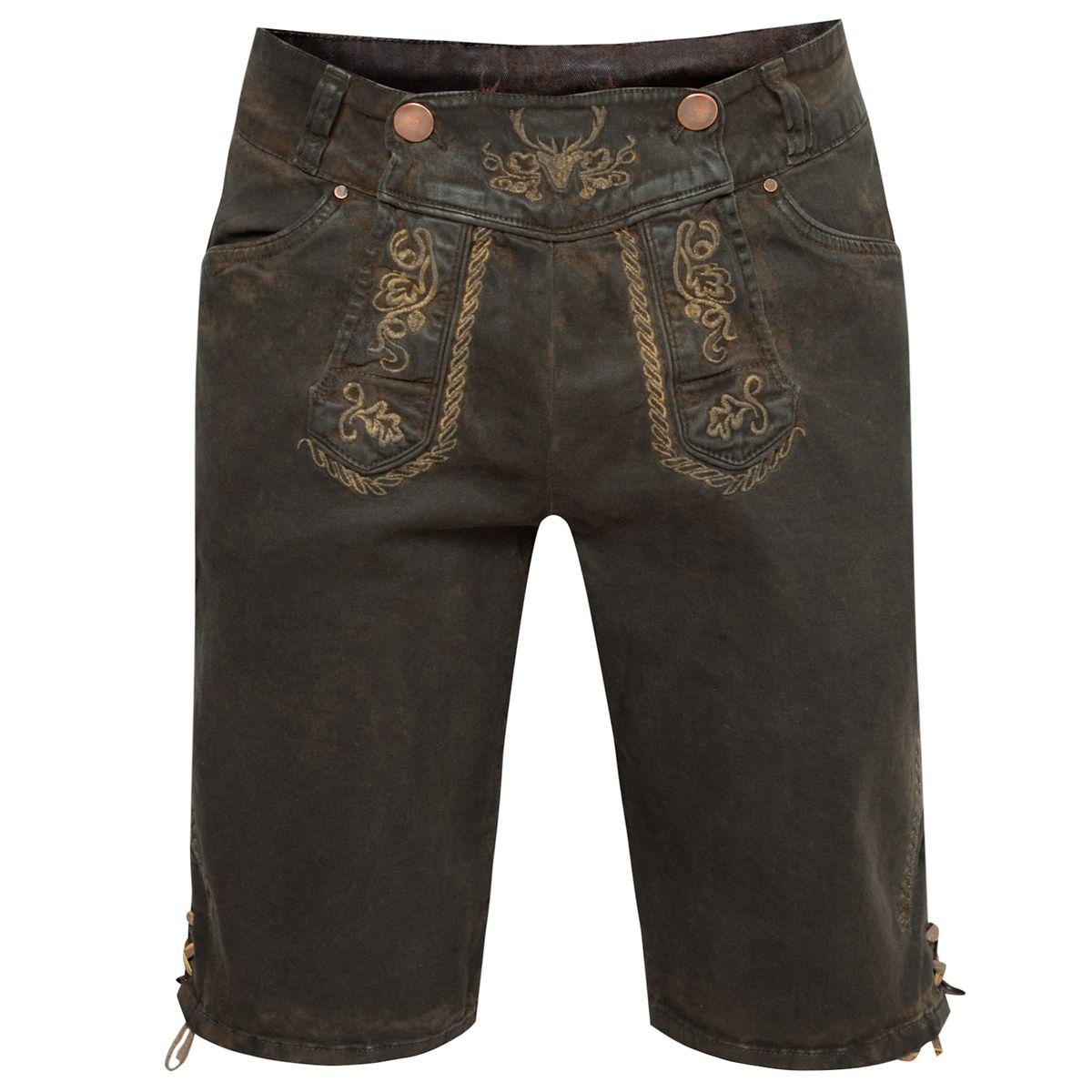 Jeans-Lederhose Martin in Dunkelbraun von Hangowear