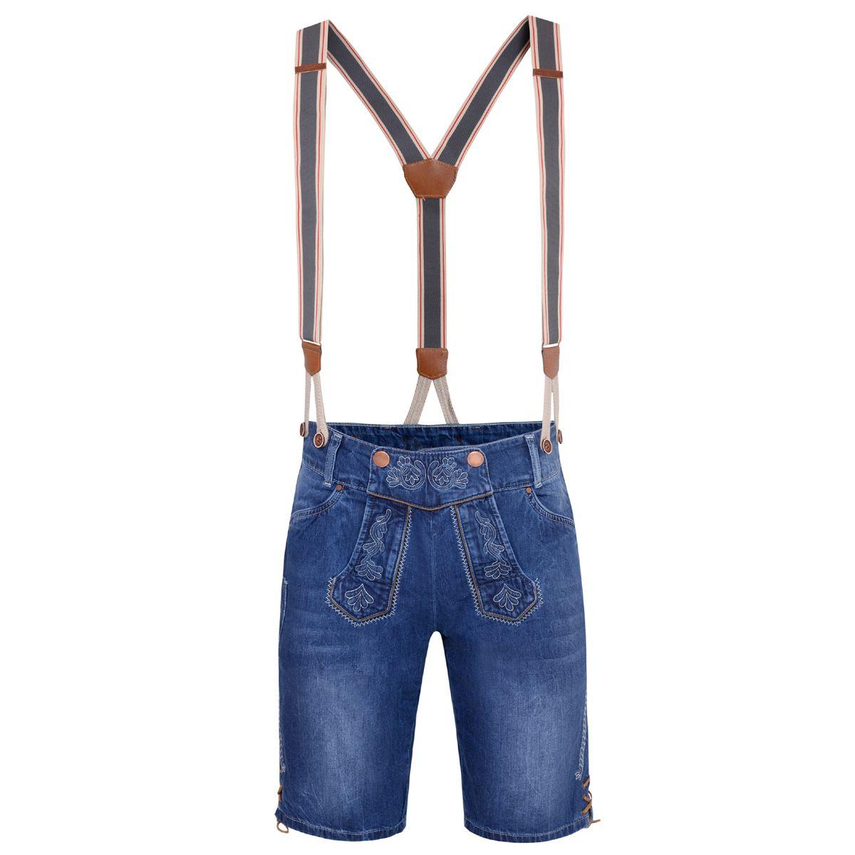 Jeans-Lederhose Lorenz in Blau von Hangowear günstig online kaufen