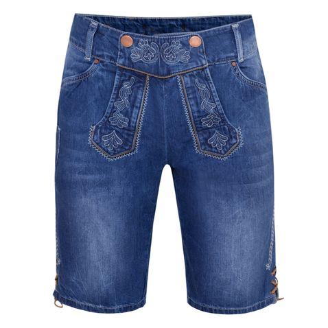 Jeans-Lederhose Lorenz in Blau von Hangowear