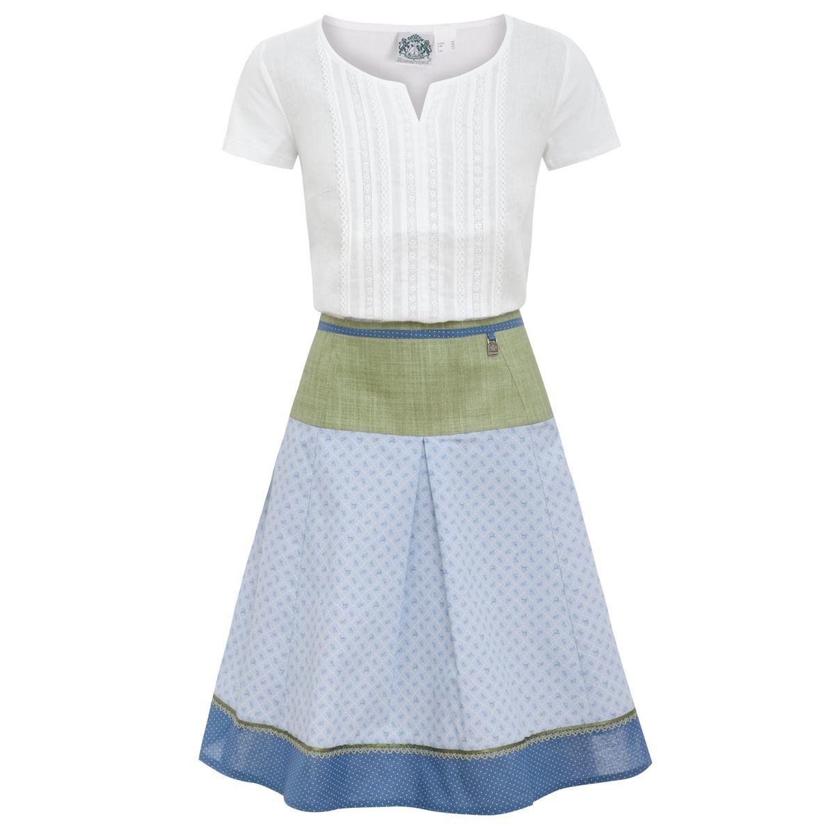 Trachten Outfit in Weiß/Hellblau von Hammerschmid günstig online kaufen