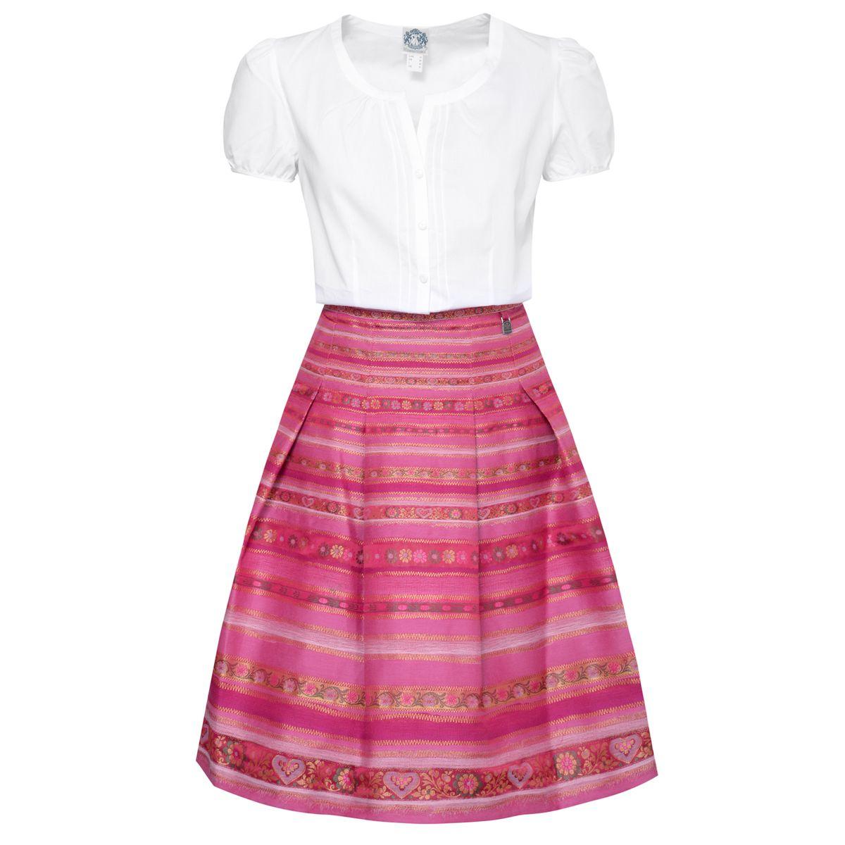 Trachten Outfit in Weiß/Pink von Hammerschmid günstig online kaufen