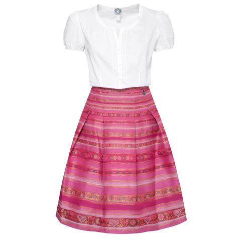Trachten Outfit in Weiß/Pink von Hammerschmid