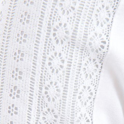 Trachtenbluse Vroni in Weiß von Hess