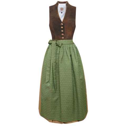 Langes Dirndl Annelie in Braun von Apple of my Eye
