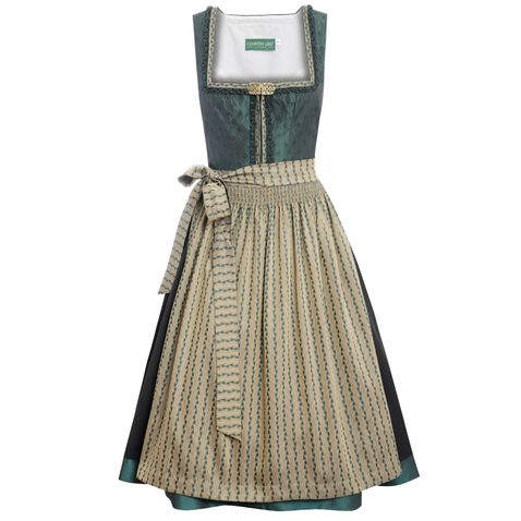 Midi Dirndl Betti in Grün von Country Line