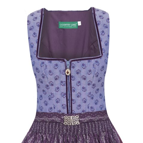 Midi Dirndl Donal in Lila von Country Line