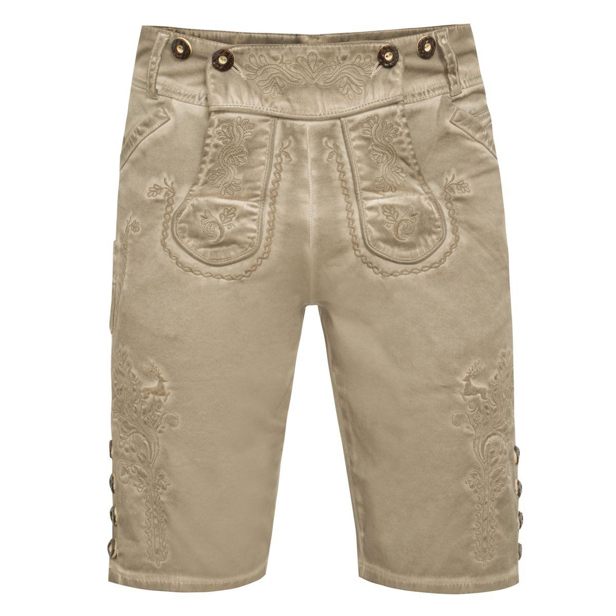 Jeans-Lederhose Xare in Beige von Marjo Trachten