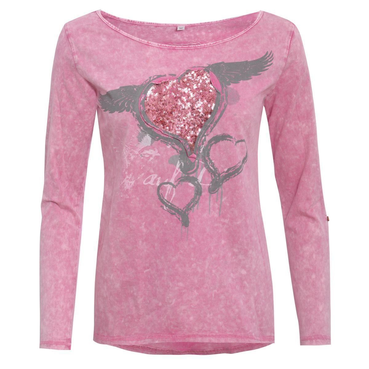 Trachtenshirt Fliaga in Pink von Marjo Trachten günstig online kaufen