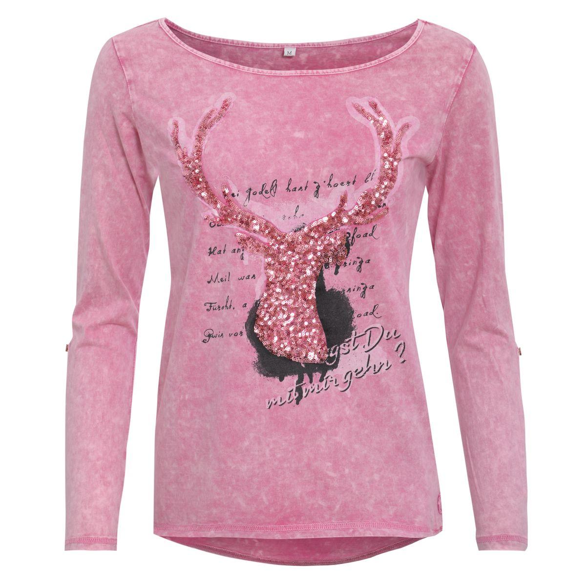 Trachtenshirt Hanna in Pink von Marjo Trachten günstig online kaufen