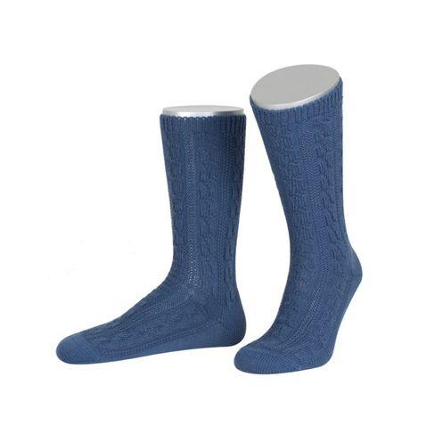 Trachtensocken zur Lederhose in Blau von Lusana
