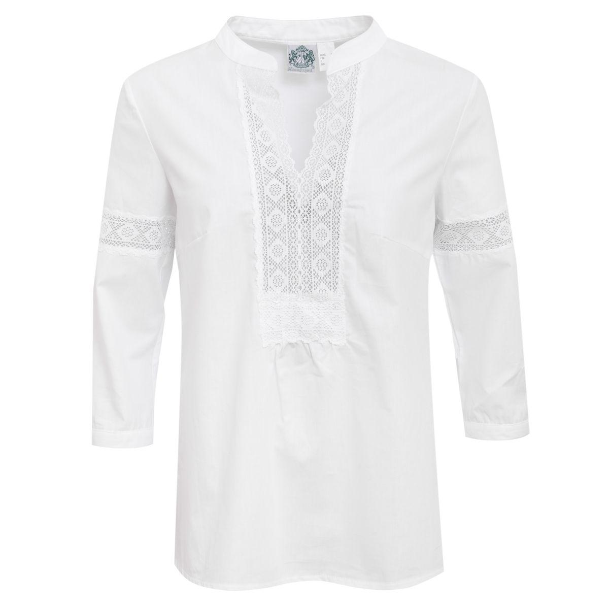 Trachtenbluse Lisbeth in Weiß von Hammerschmid