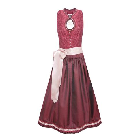 Midi Dirndl Babsi in Bordeaux von Krüger Collection