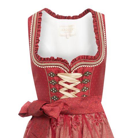 Midi Dirndl Dannerl in Rot von Krüger Collection