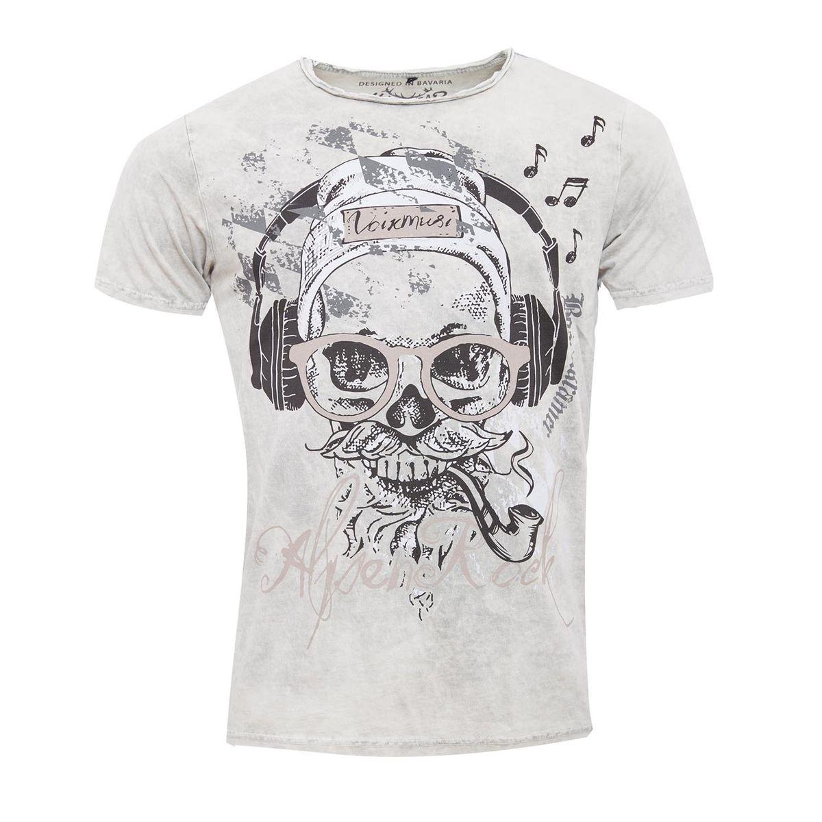 Trachtenshirt Finn in Hellgrau von Hangowear günstig online kaufen