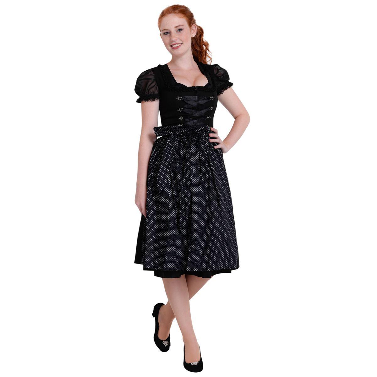 Best price midi dirndl amelie in schwarz von almsach ebay for Trachten finest