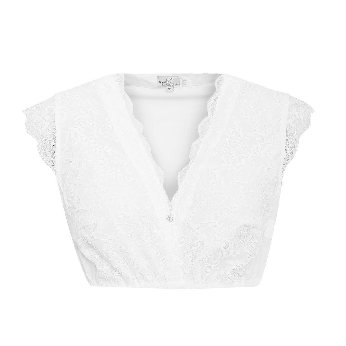 Dirndlbluse Almut-Doro in Weiß von Marjo Trachten günstig online kaufen