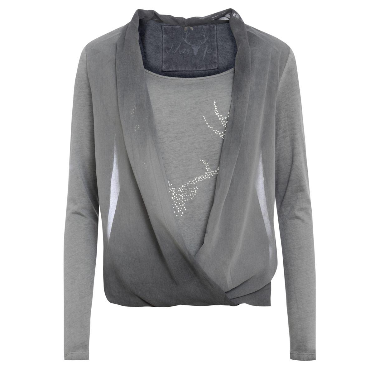 Trachtenshirt Claudi in Grau von Marjo Trachten günstig online kaufen