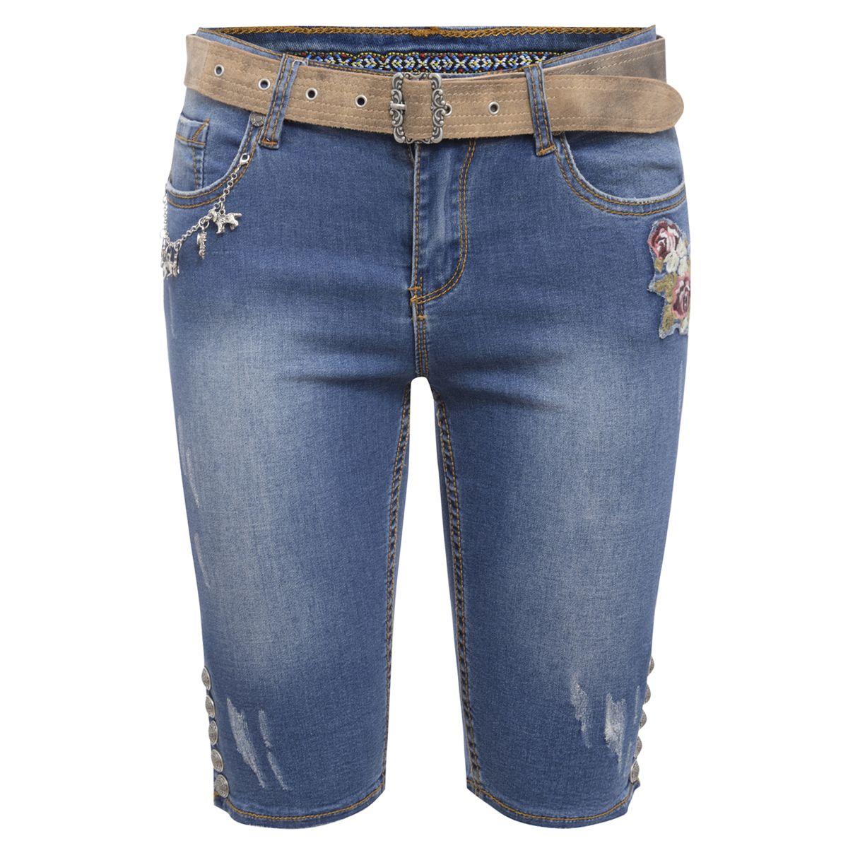 Jeansshort Bahati Lisa in Blau von Marjo Trachten günstig online kaufen