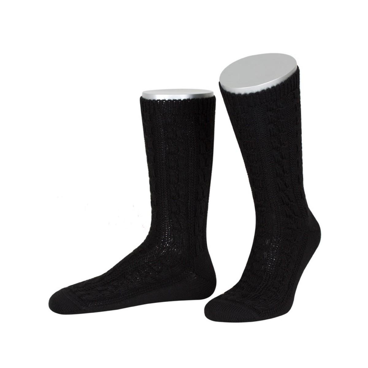 Trachtensocken zur Lederhose in Schwarz von Lusana günstig online kaufen