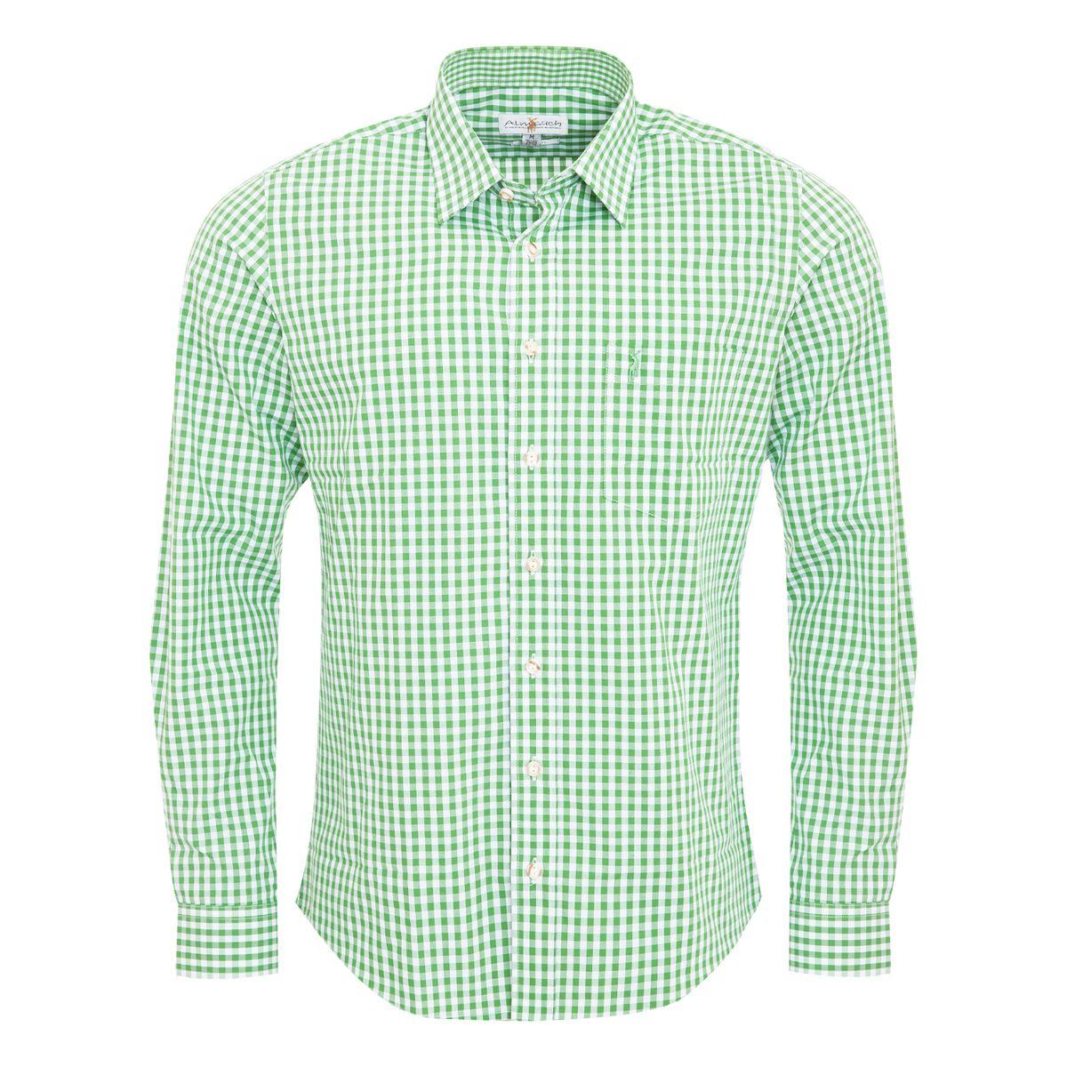 Trachtenhemd Liberto Slim Fit in Hellgrün von Almsach günstig online kaufen