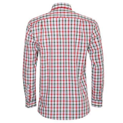 Trachtenhemd Jörg Regular Fit zweifarbig in Rot und Dunkelgrün von Almsach