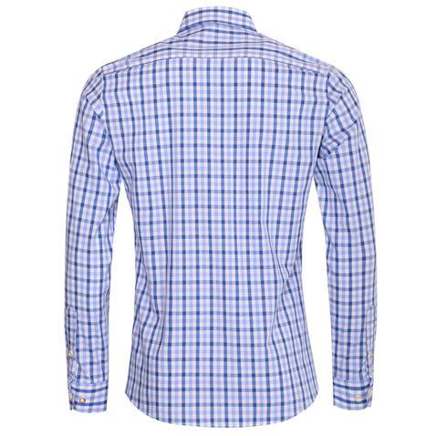 Trachtenhemd Friedolin Slim Fit zweifarbig in Hellblau und Blau von Almsach