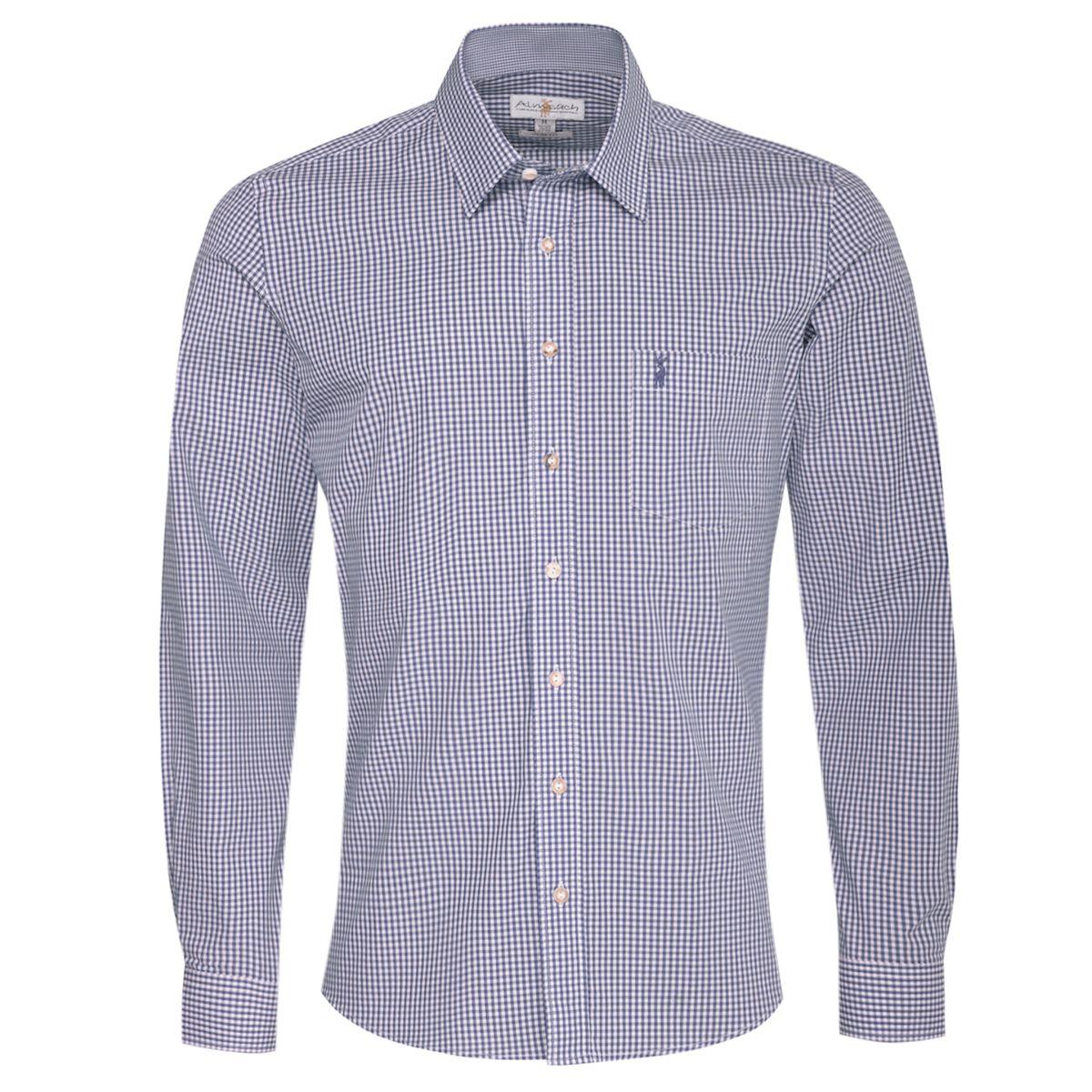 Trachtenhemd Cai Slim Fit in Blau von Almsach günstig online kaufen