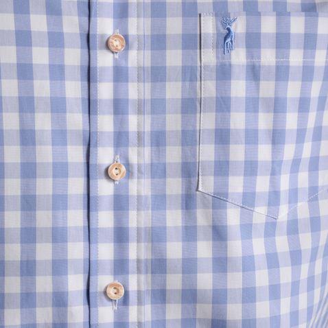 Trachtenhemd Fridolin Slim Fit in Hellblau von Almsach