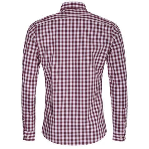 Trachtenhemd Kurt Slim Fit in Aubergine von Almsach