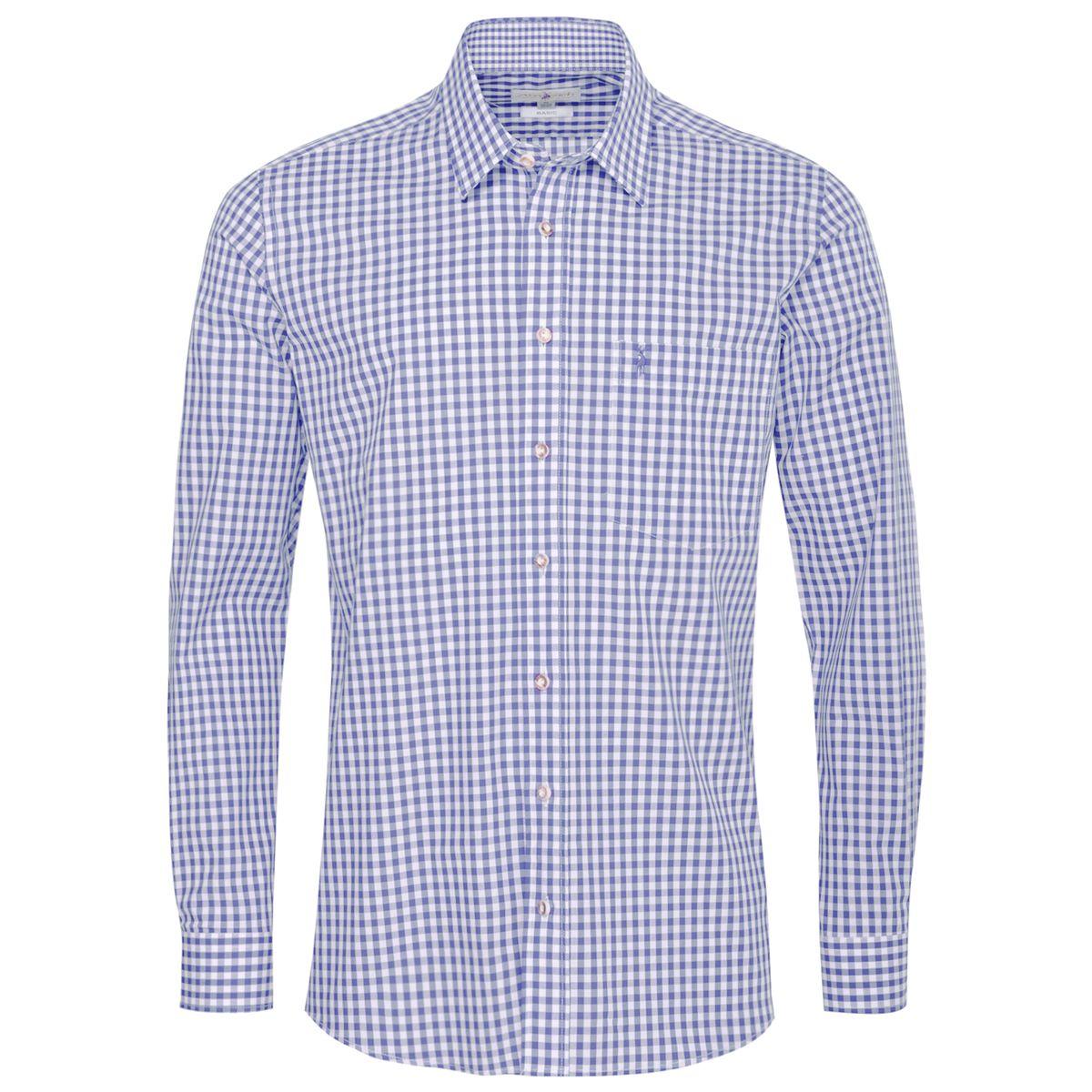 Trachtenhemd Viktor Regular Fit in Hellblau von Almsach günstig online kaufen