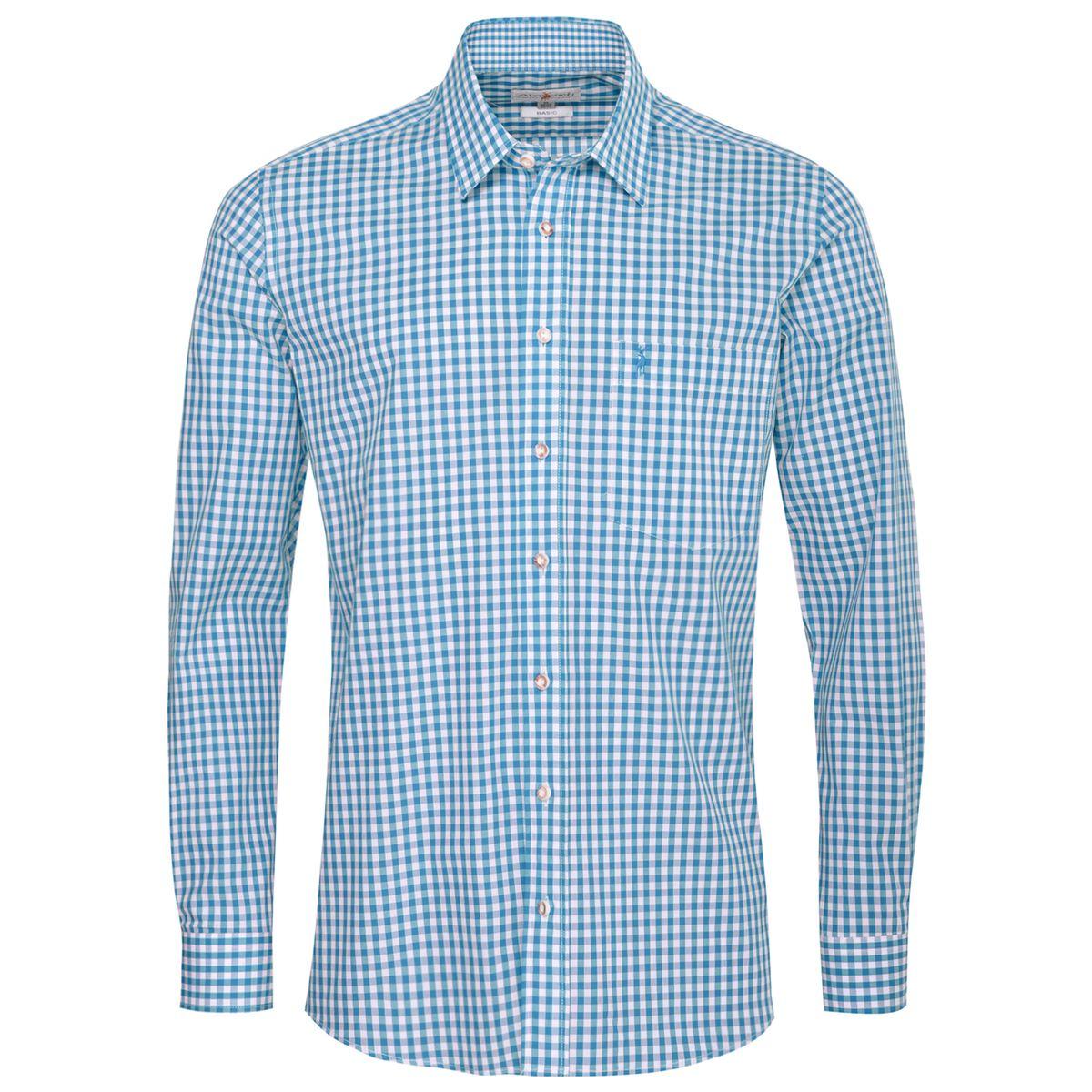 Trachtenhemd Fesl Regular Fit in Türkis von Almsach günstig online kaufen