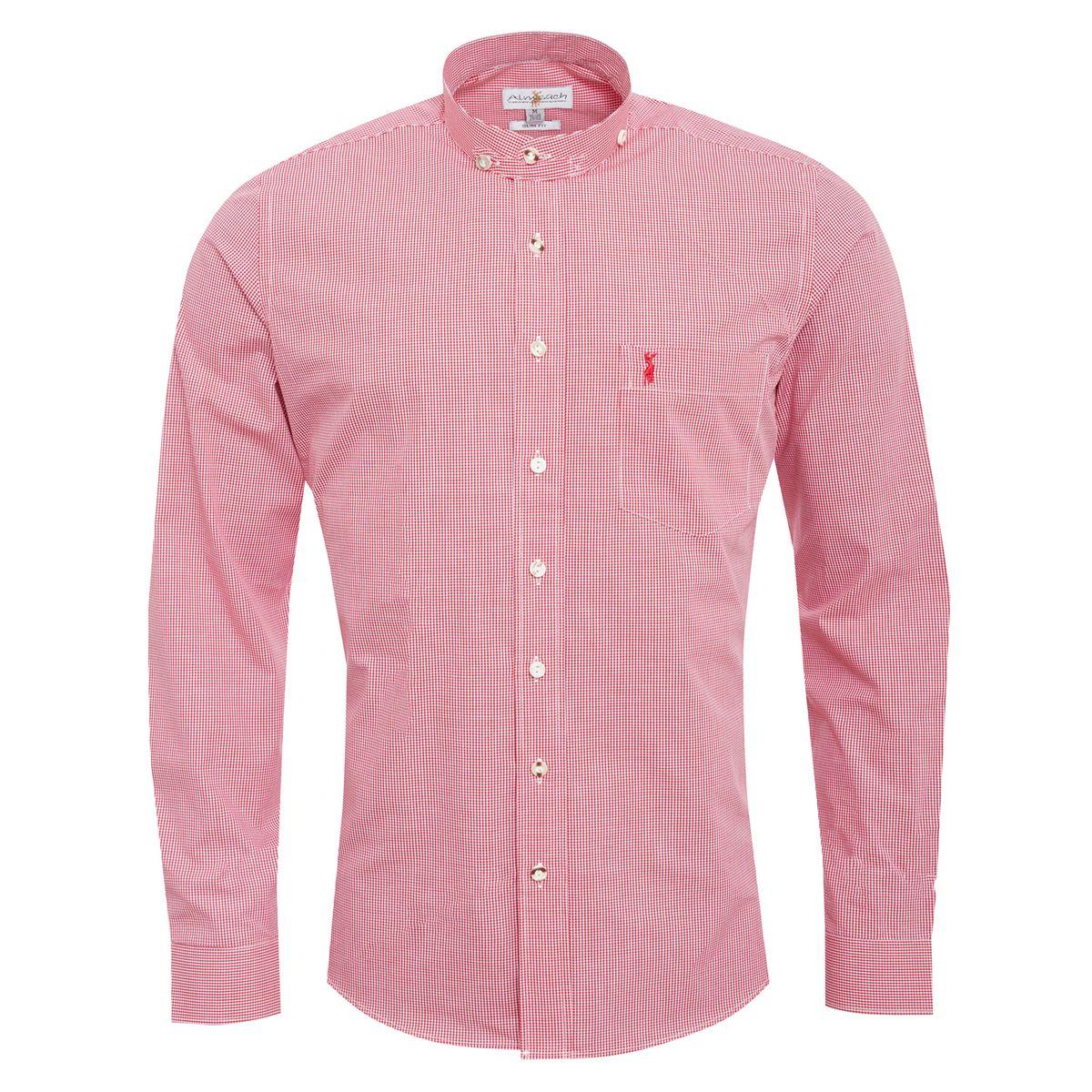 Trachtenhemd Sebastian Slim Fit in Rot von Almsach günstig online kaufen