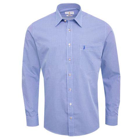 Trachtenhemd Rudi Regular Fit in Blau von Almsach