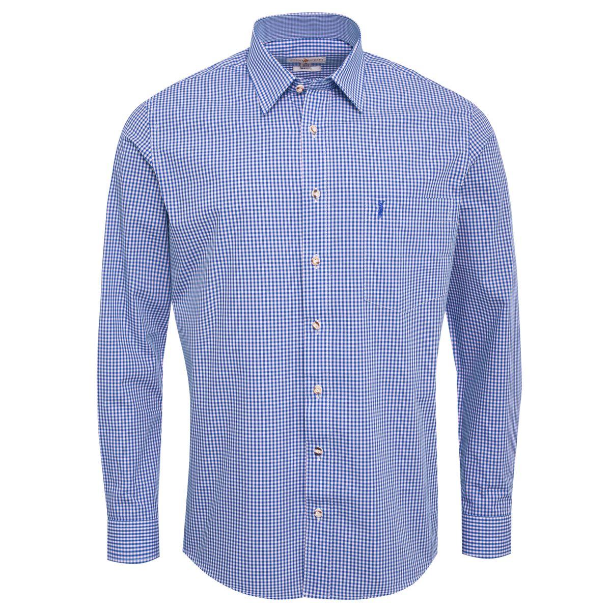 Trachtenhemd Ludwig Regular Fit in Blau von Almsach günstig online kaufen
