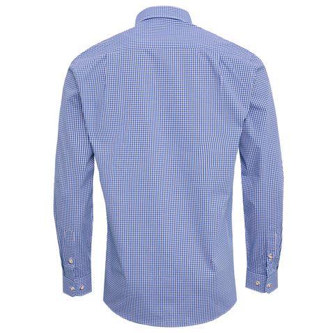 Trachtenhemd Ludwig Regular Fit in Blau von Almsach