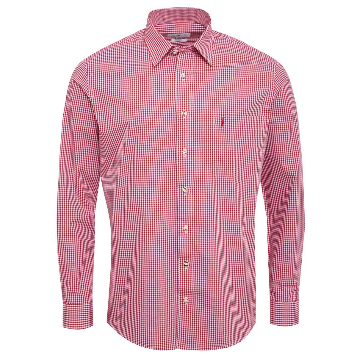 Trachtenhemd Ludwig Regular Fit in Rot von Almsach günstig online kaufen
