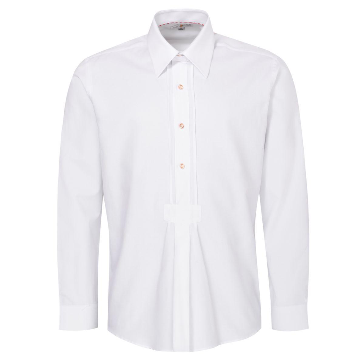 Trachtenhemd Jens Regular Fit mit Biesen in Weiß von Almsach günstig online kaufen