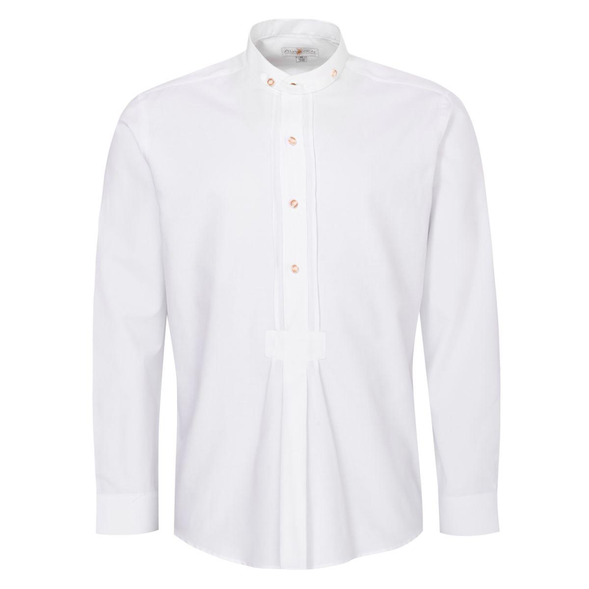 Trachtenhemd Justus Regular Fit mit Biesen in Weiß von Almsach günstig online kaufen