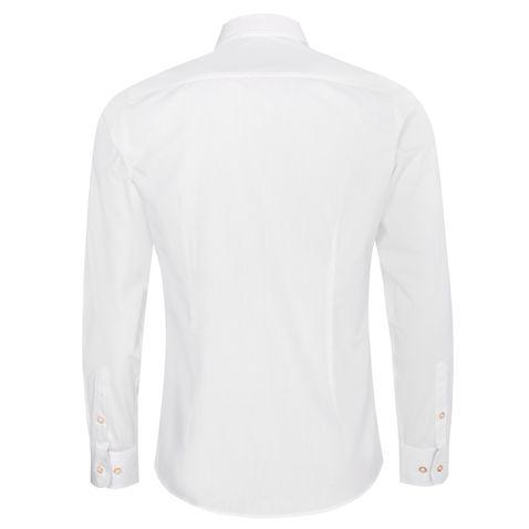 Trachtenhemd Dennis Slim Fit in Weiß und Rot von Almsach