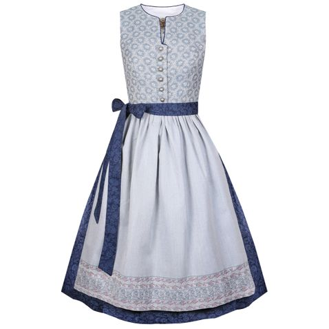 Midi Dirndl Gertraud in Blau von Apple of my Eye