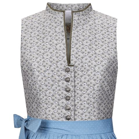 Midi Dirndl Dorothea in Grau von Apple of my Eye