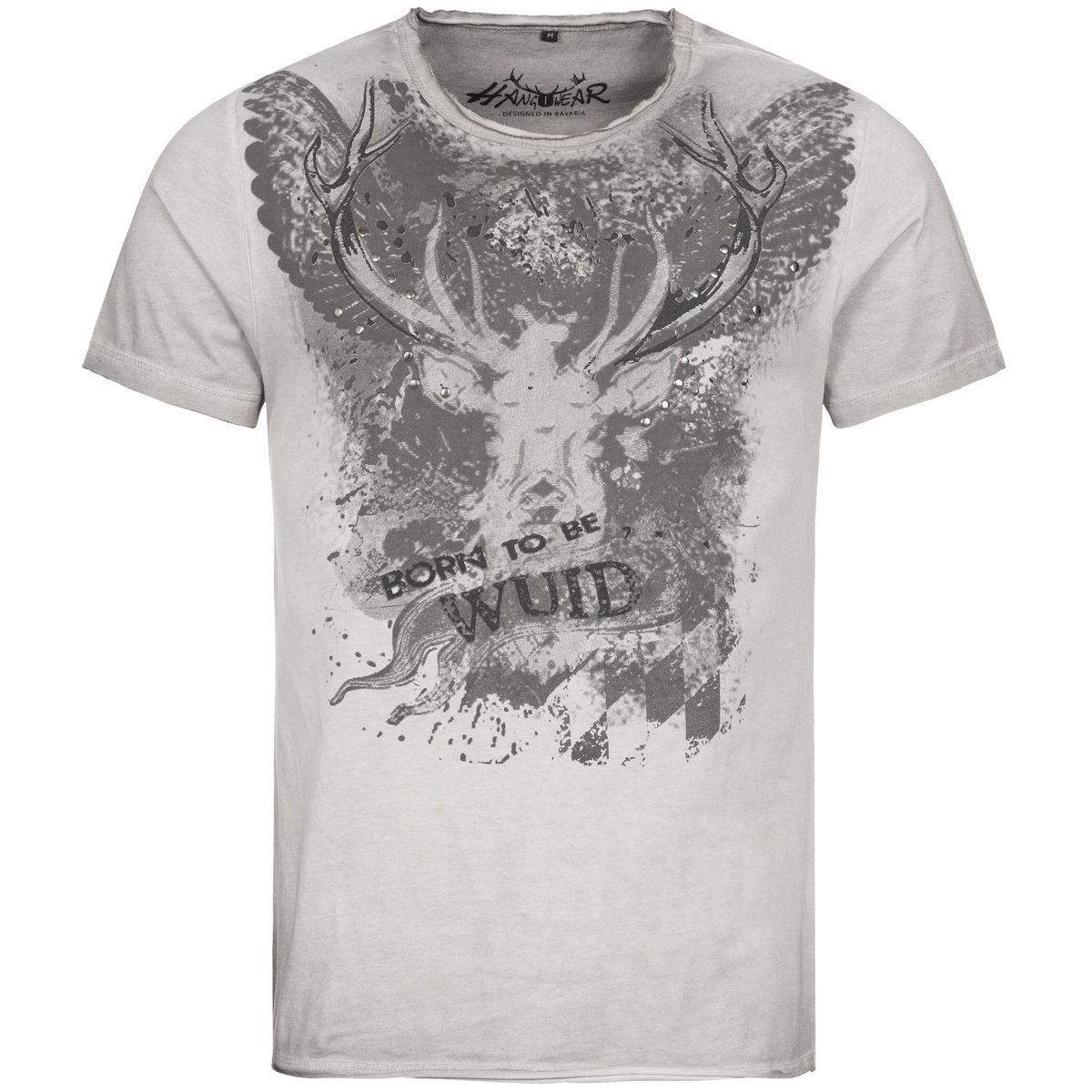 Trachtenshirt Romeo in Grau von Hangowear günstig online kaufen