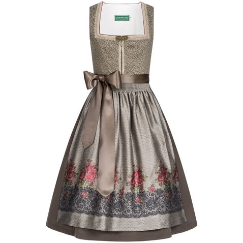 Midi Dirndl Julia in Braun von Country Line