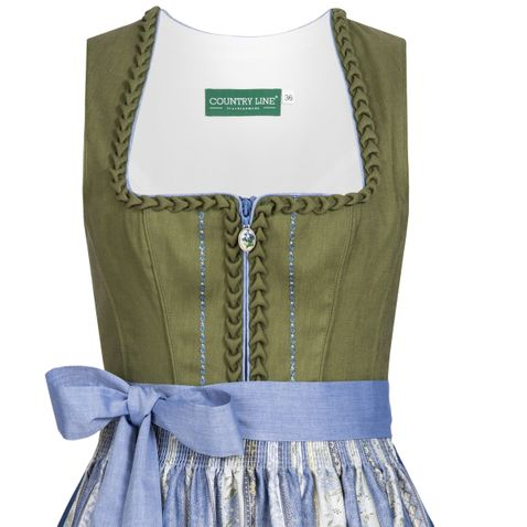 Midi Dirndl Gerlinde in Grün von Country Line