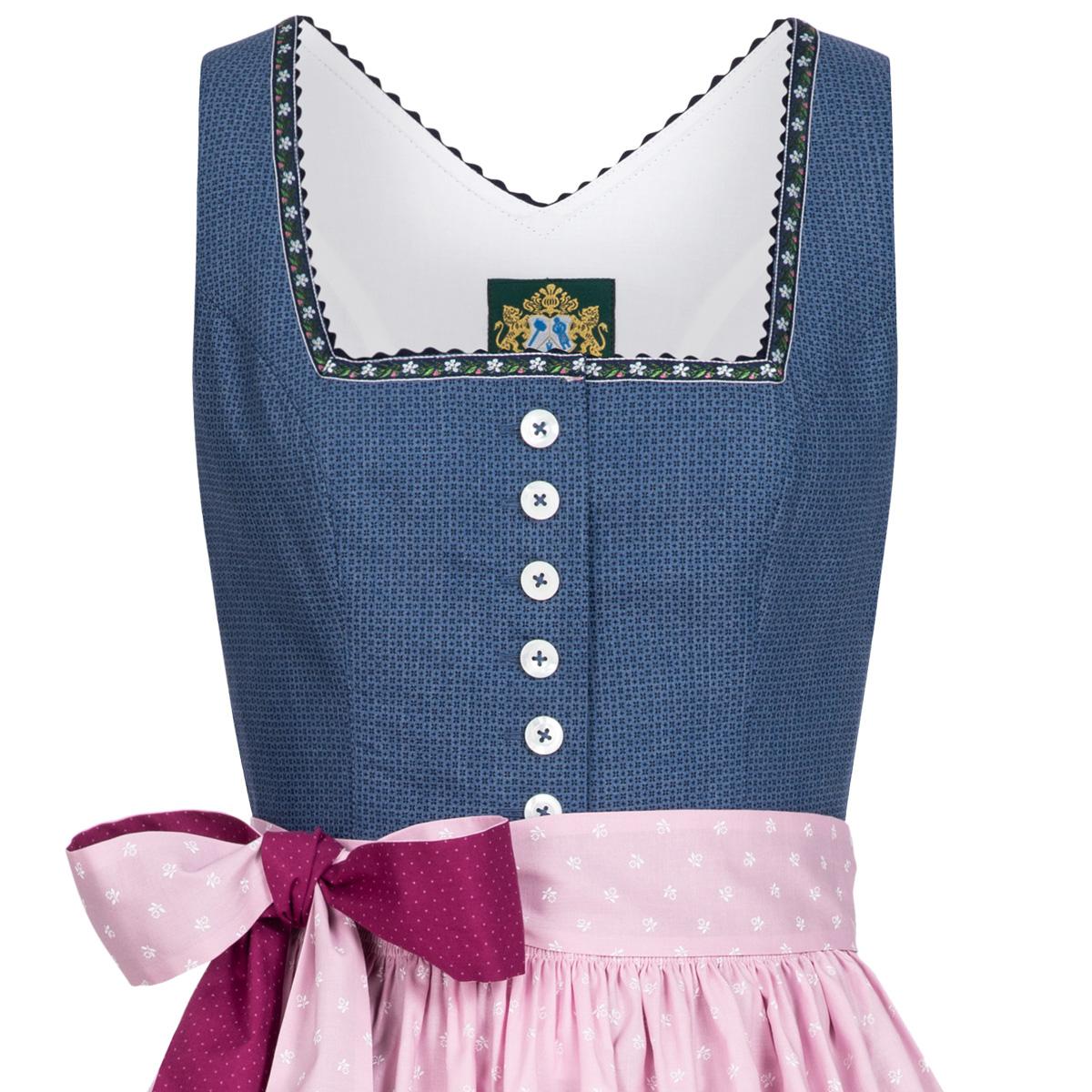 2ca78e06d8a7e2 Trachten Traditionelle Bekleidung Hammerschmid Damen Trachten-Mode Midi  Dirndl Thiersee in Blau traditionell