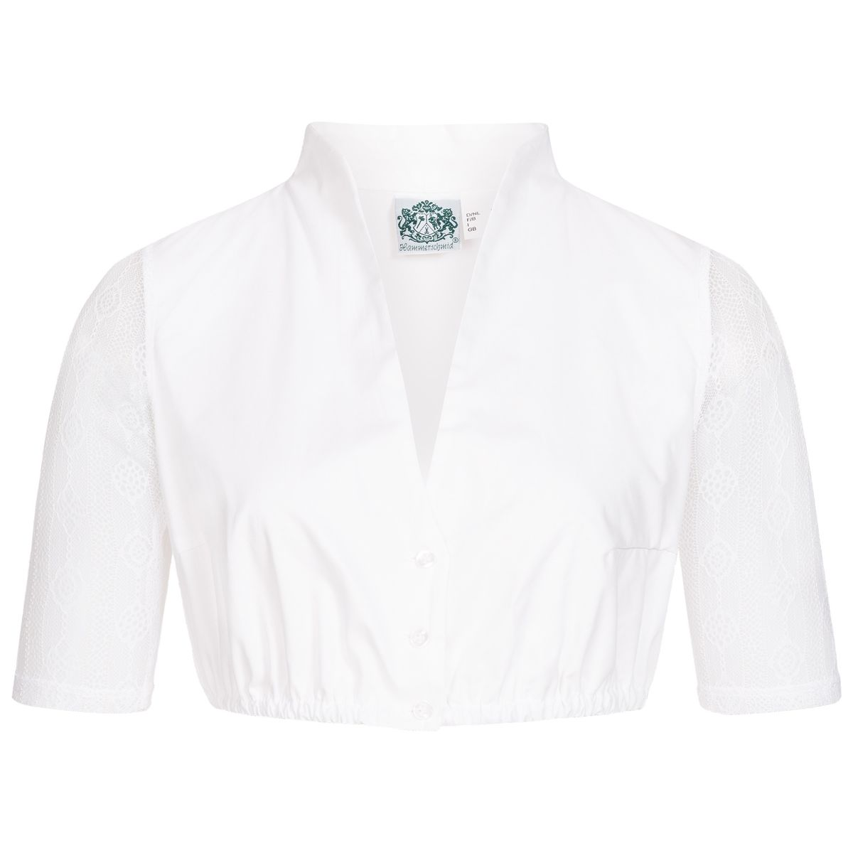 Dirndlbluse Anina in Weiß von Hammerschmid