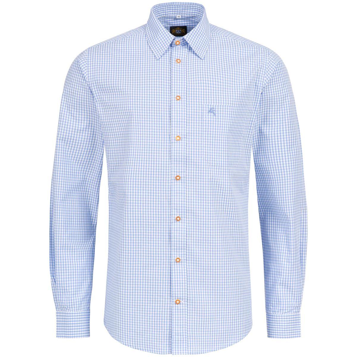 Trachtenhemd Richard Slim Fit in Hellblau von Hammerschmid günstig online kaufen
