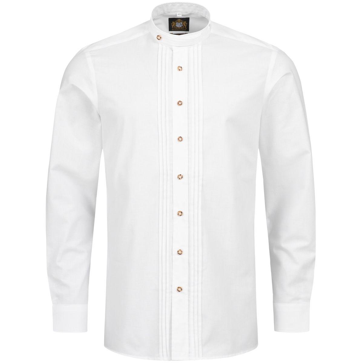 Trachtenhemd Norbert Slim Fit in Weiß von Hammerschmid günstig online kaufen